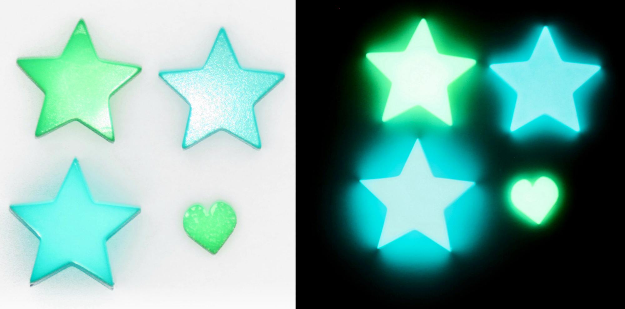 Leuchtender Kunststoff